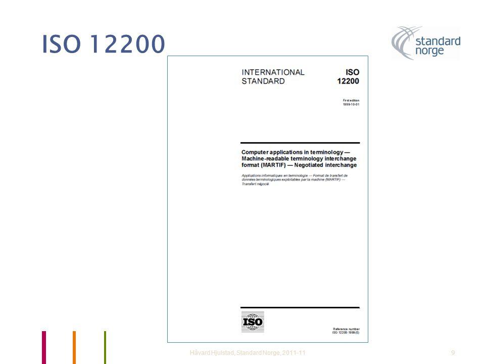 ISO 12200 Håvard Hjulstad, Standard Norge, 2011-119