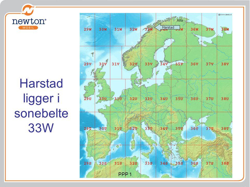 Harstad ligger i sonebelte 33W Harstad Alta PPP 1
