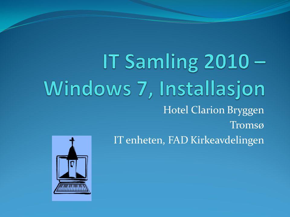 Hotel Clarion Bryggen Tromsø IT enheten, FAD Kirkeavdelingen