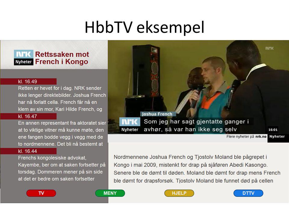 Test 2013 modell HbbTV mottaker