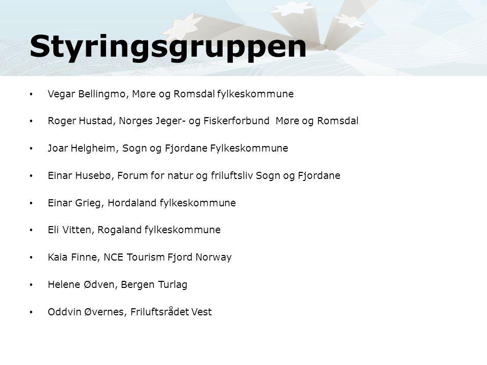 Styringsgruppen • Vegar Bellingmo, Møre og Romsdal fylkeskommune • Roger Hustad, Norges Jeger- og Fiskerforbund Møre og Romsdal • Joar Helgheim, Sogn