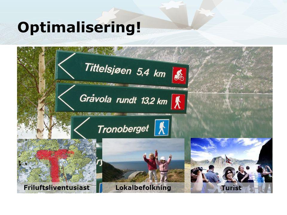 Optimalisering! Friluftsliventusiast Lokalbefolkning Turist