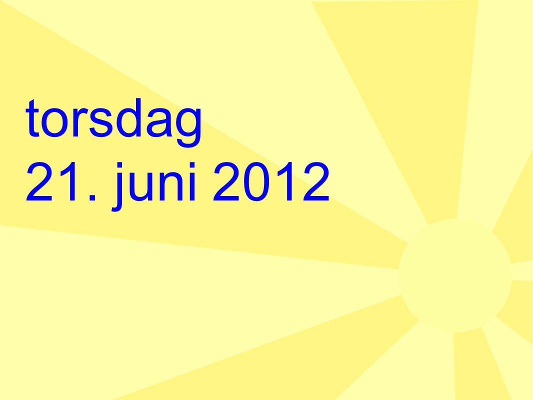 torsdag 21. juni 2012