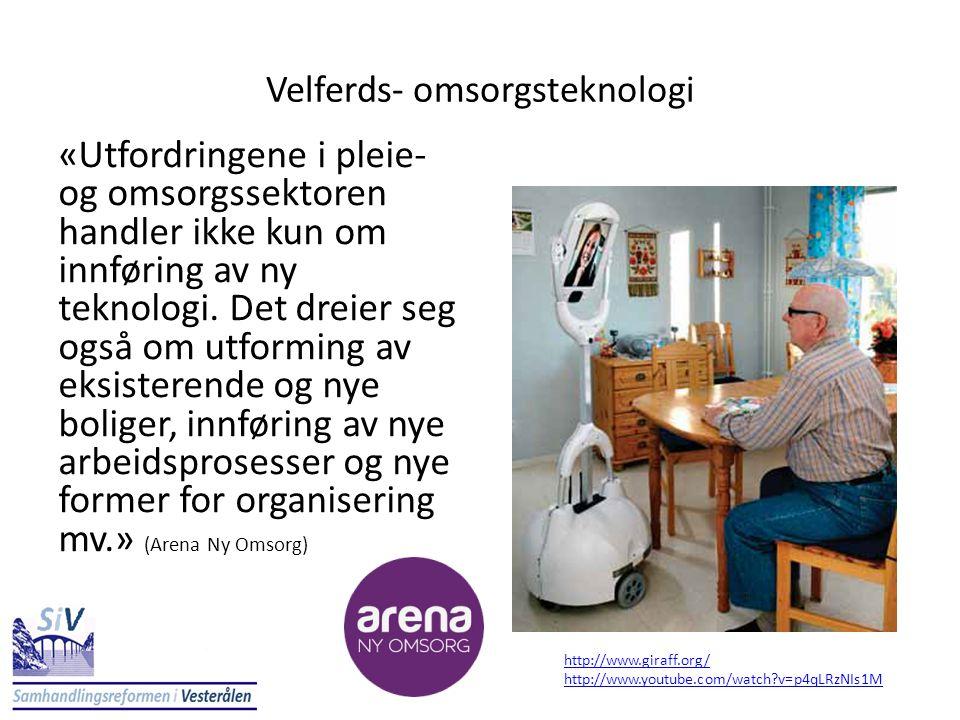 «Utfordringene i pleie- og omsorgssektoren handler ikke kun om innføring av ny teknologi. Det dreier seg også om utforming av eksisterende og nye boli