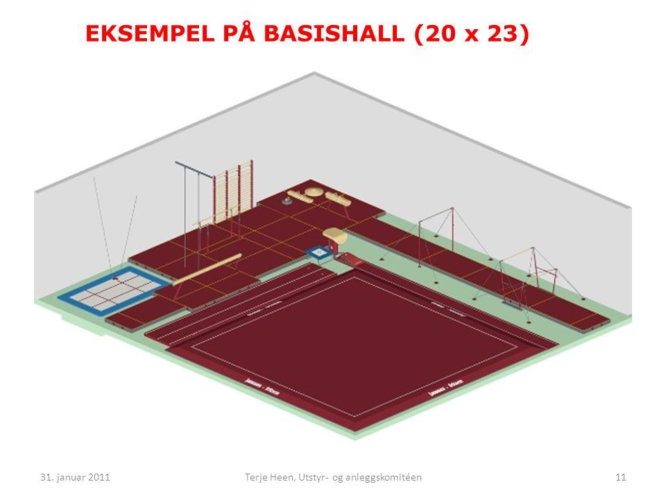 EKSEMPEL PÅ BASISHALL (20 x 23) 31. januar 201111Terje Heen, Utstyr- og anleggskomitéen