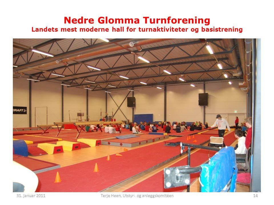 Nedre Glomma Turnforening Landets mest moderne hall for turnaktiviteter og basistrening 31.