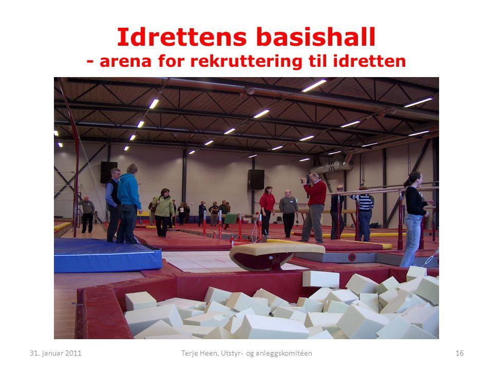 Idrettens basishall - arena for rekruttering til idretten 31.