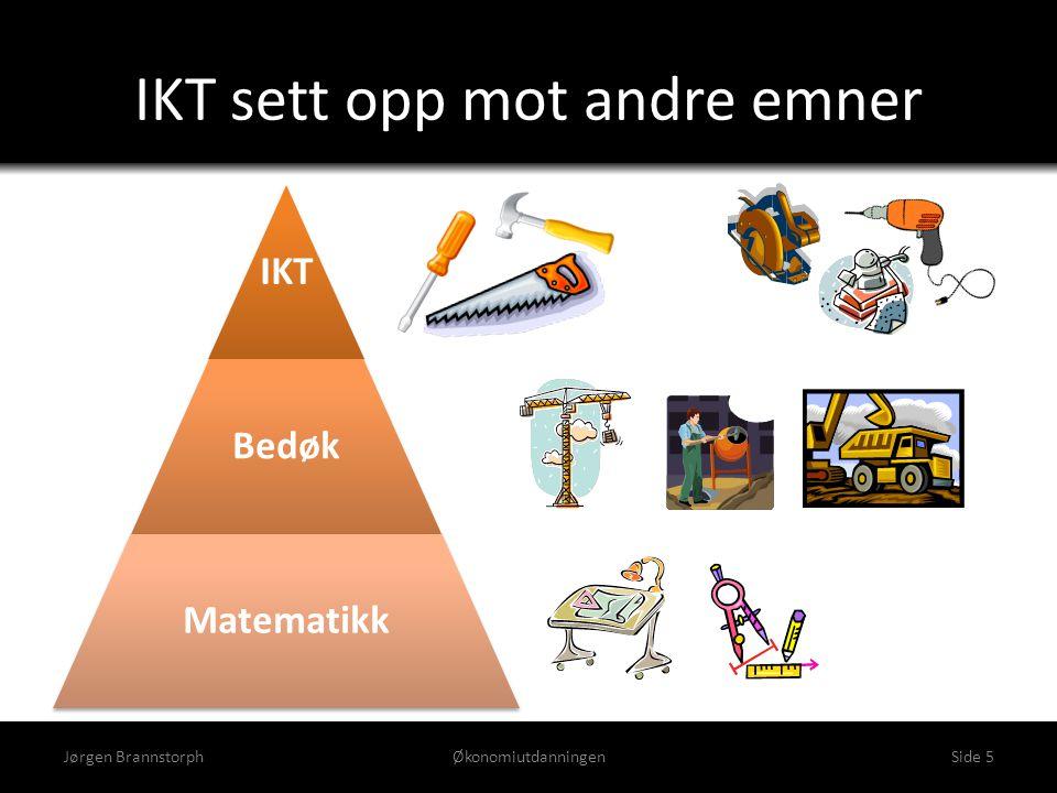 IKT sett opp mot andre emner IKT Bedøk Matematikk Jørgen BrannstorphØkonomiutdanningenSide 5