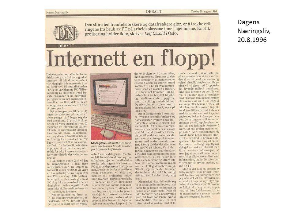 Dagens Næringsliv, 20.8.1996