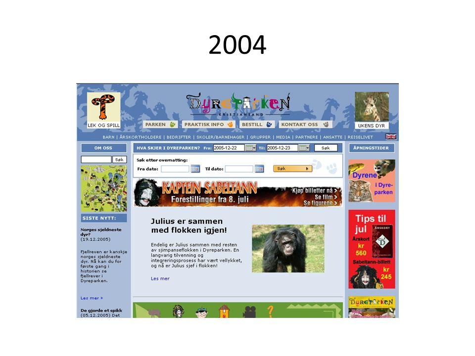 Oktober + november 2008: • 1003 klikk direkte fra dagbladet.no • 90 % av disse var nye besøkende på dyreparken.no