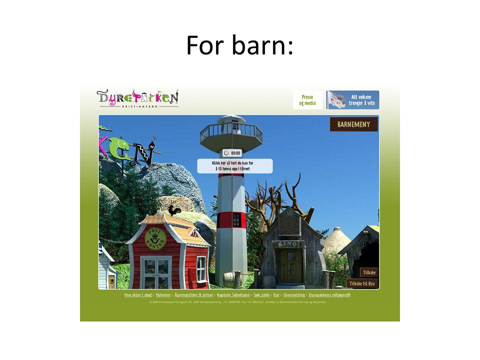 • Dyreparkens tilhengerside på facebook har 8400 tilhengere… • Hvor mange har du?