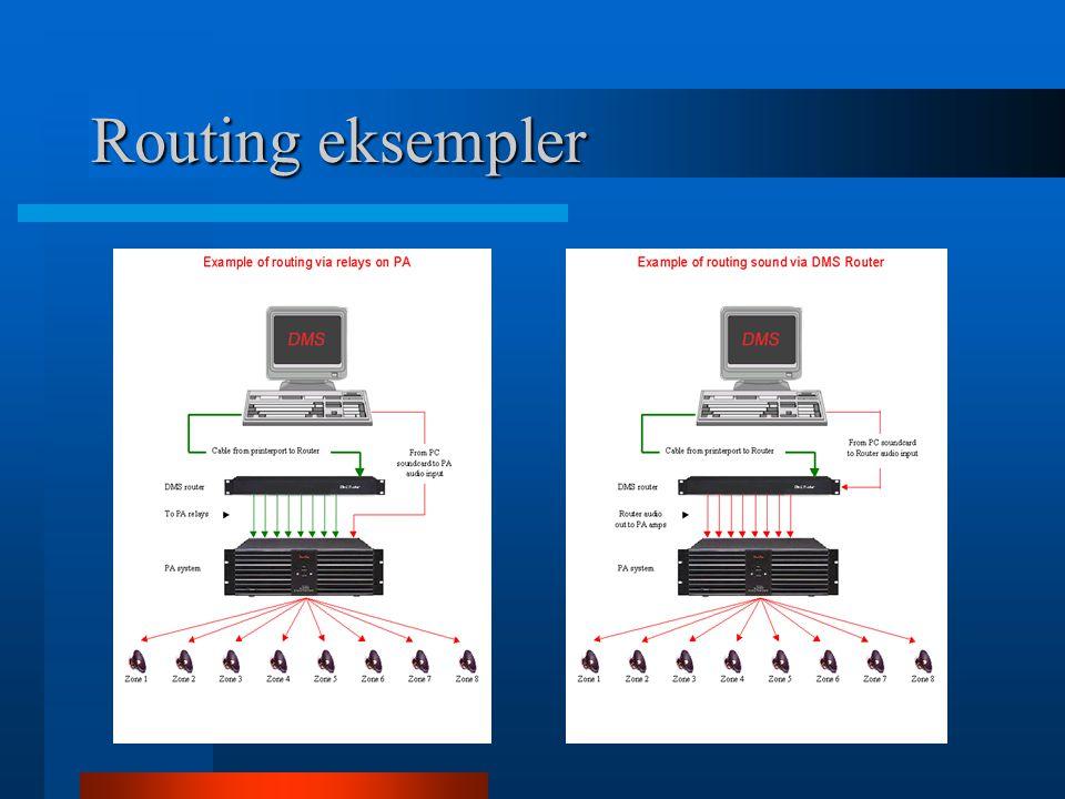 Routing eksempler