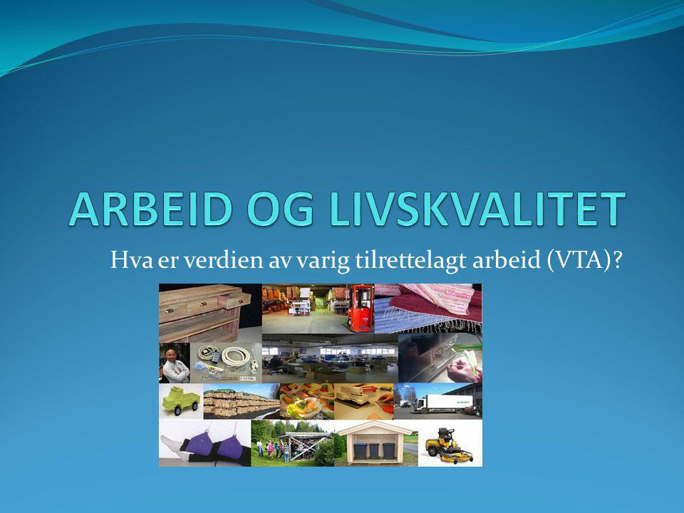 Hva er verdien av varig tilrettelagt arbeid (VTA)?
