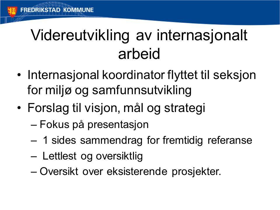 Strategiområder •Regionsamarbeid •Samarbeids- og vennskapsforbindelser •Europasamarbeid •Andre internasjonale forbindelser