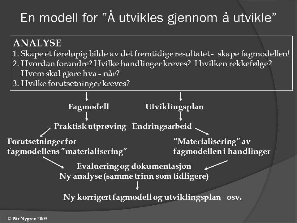 En modell for Å utvikles gjennom å utvikle ANALYSE 1.