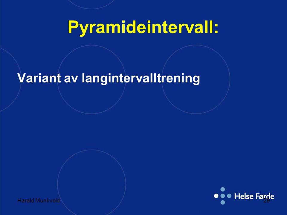 Harald Munkvold25 Pyramideintervall: Variant av langintervalltrening