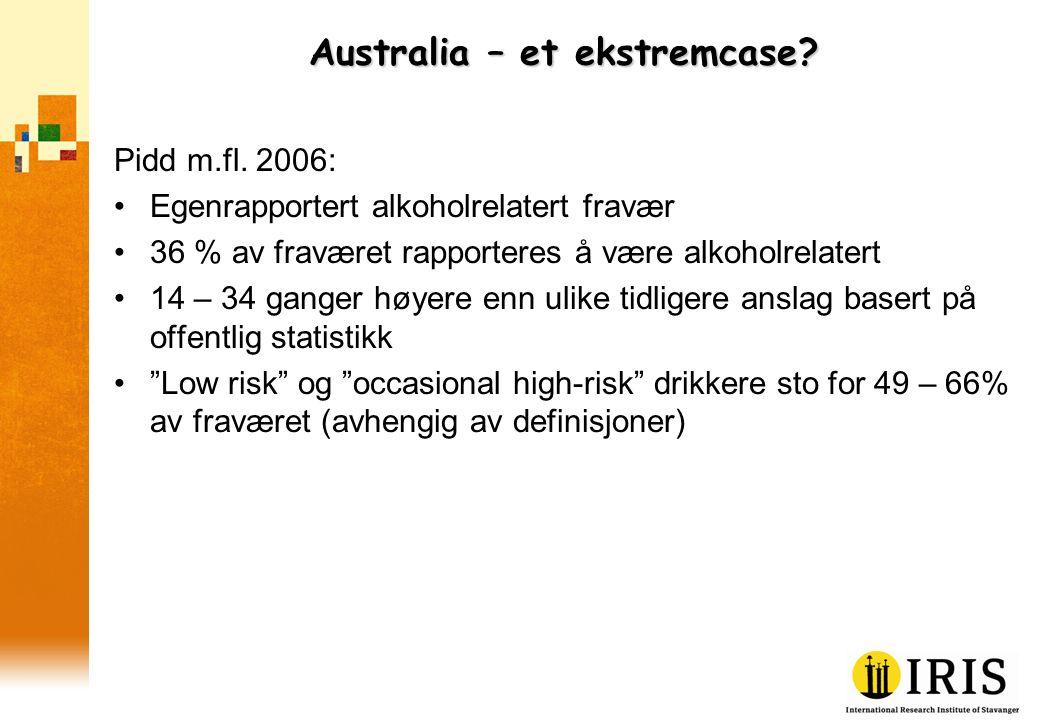 Australia – et ekstremcase. Pidd m.fl.
