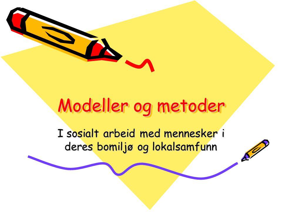Modeller og metoder I sosialt arbeid med mennesker i deres bomiljø og lokalsamfunn