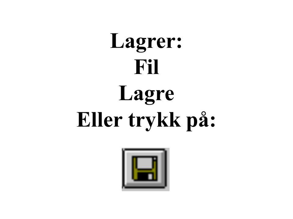 Lagrer: Fil Lagre Eller trykk på: