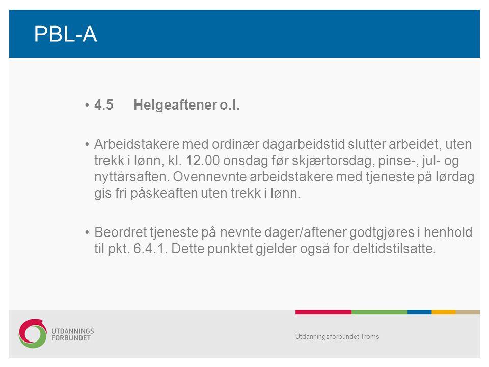 PBL-A •4.5Helgeaftener o.l.