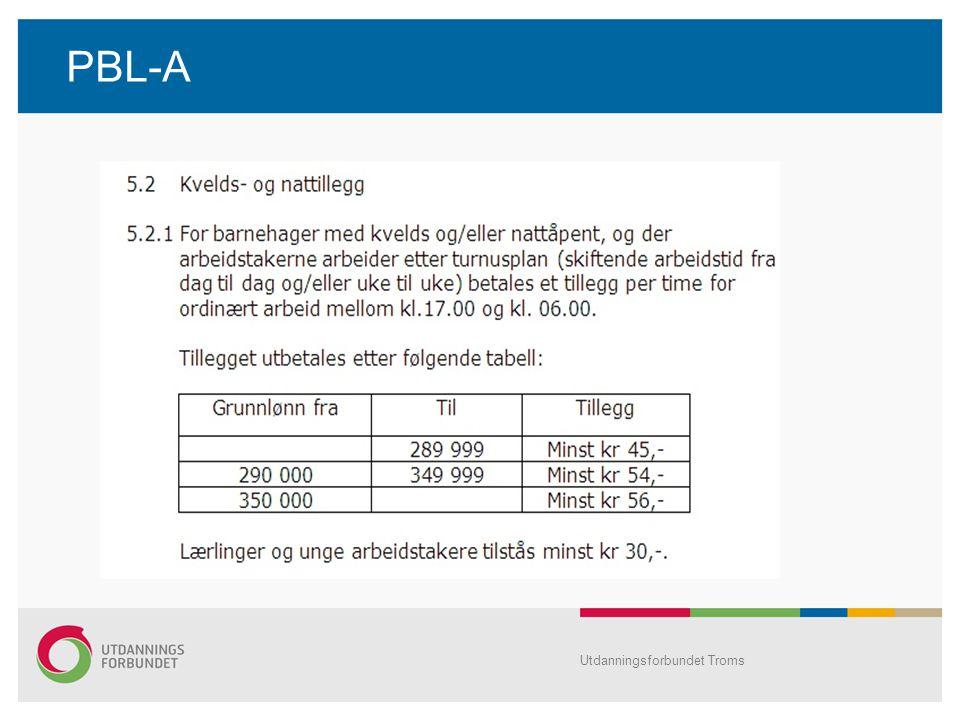 PBL-A Utdanningsforbundet Troms