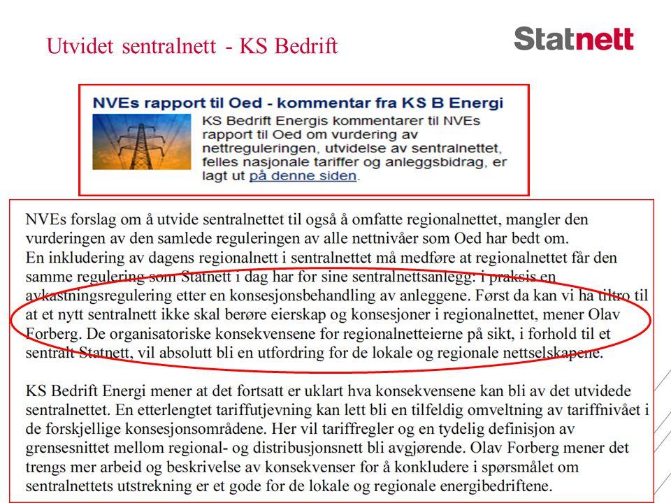 Utvidet sentralnett - KS Bedrift 27. juni 201413