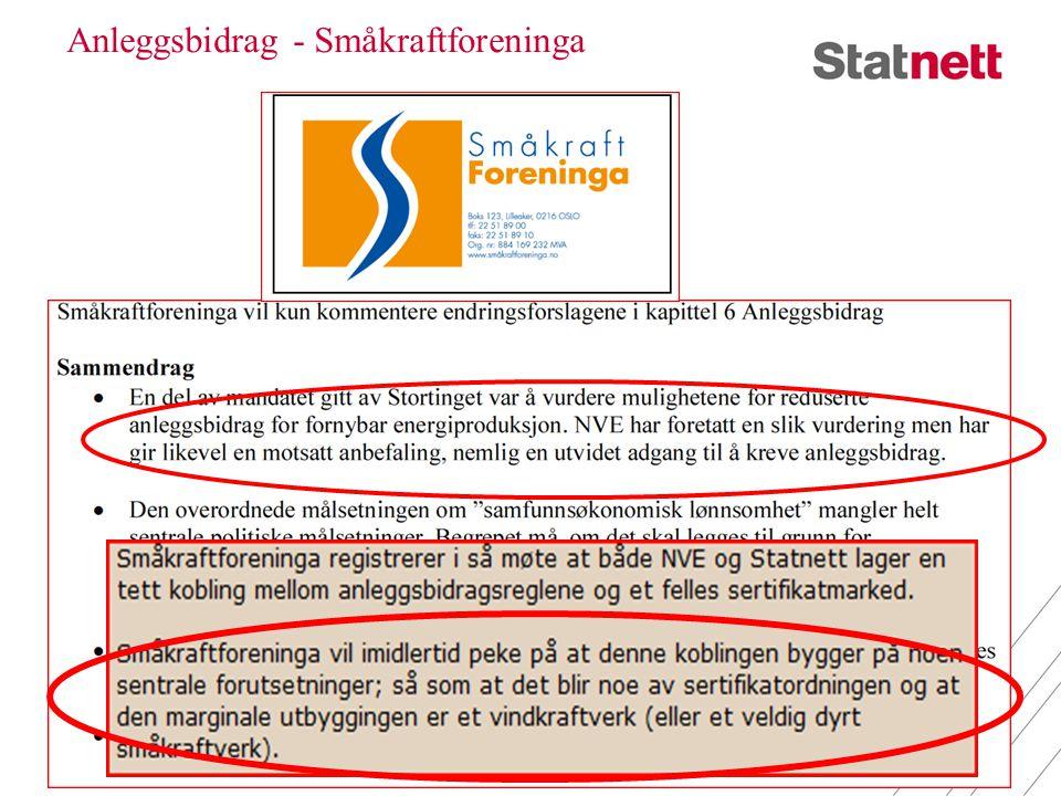 Anleggsbidrag - Småkraftforeninga 27. juni 20144