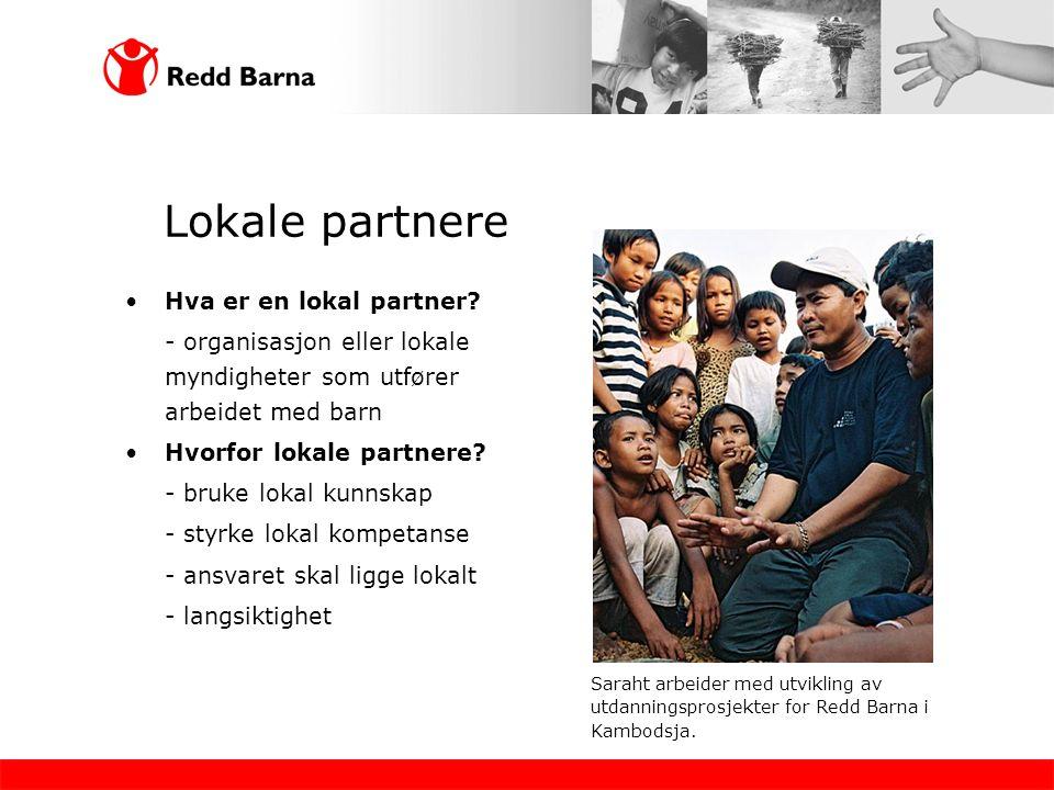 Lokale partnere •Hva er en lokal partner.
