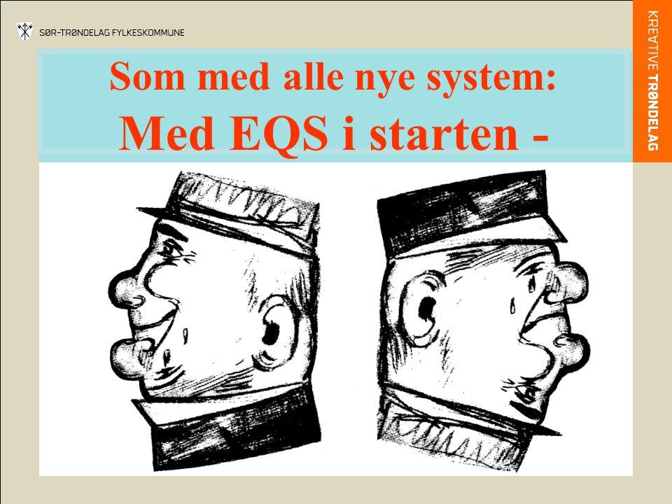 Som med alle nye system: Med EQS i starten -