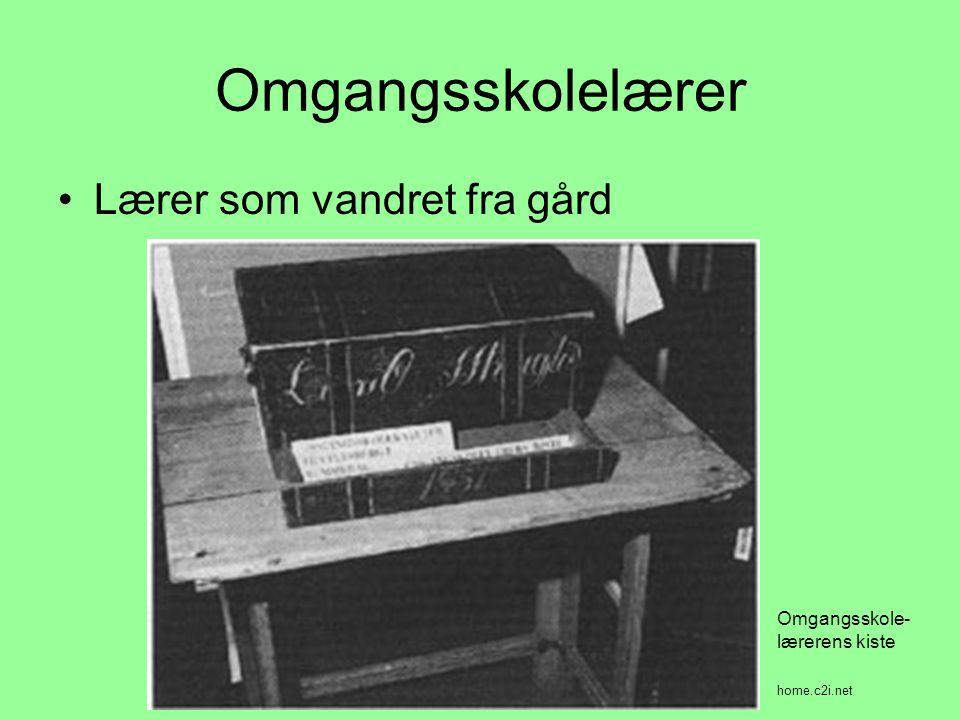 Omgangsskolelærer •Lærer som vandret fra gård home.c2i.net Omgangsskole- lærerens kiste