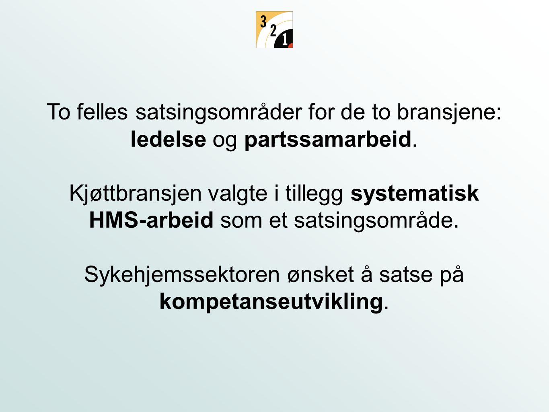 To felles satsingsområder for de to bransjene: ledelse og partssamarbeid.