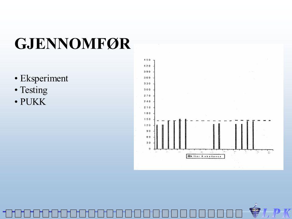 GJENNOMFØR • Eksperiment • Testing • PUKK