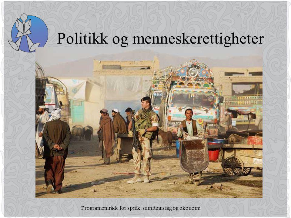Programområde for språk, samfunnsfag og økonomi Politikk og menneskerettigheter