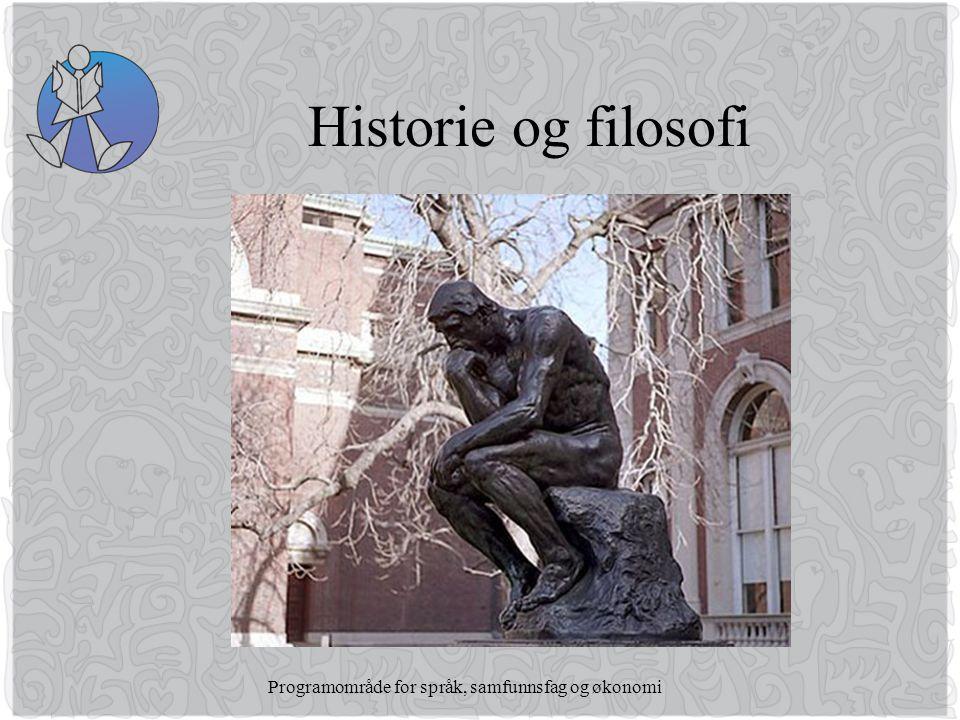 Programområde for språk, samfunnsfag og økonomi Historie og filosofi