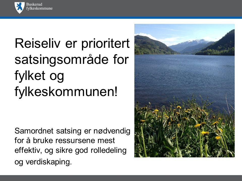 Reiseliv er prioritert satsingsområde for fylket og fylkeskommunen.