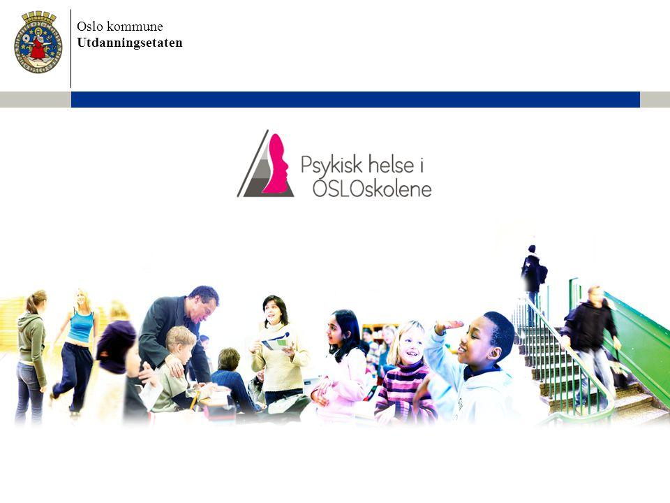 Oslo kommune Utdanningsetaten 2 Det er nødvendig å satse på psykisk helse Kilde: Nasjonalt folkehelseinstitutt •10 - 20 % av barn og unge har psykiske vansker og lidelser i så stor grad at det går ut over deres forhold til familie, venner og skole •Tilsvarende tall for sosialt belastede bydeler i Oslo er 24 - 27 % •5 - 8 % av alle barn og unge har en diagnostiserbar psykisk lidelse som trenger behandling •Hos de fleste med psykisk lidelse er symptomene forbigående, men 25 - 40% av barna har symptomer som varer over mange år Det er høy forekomst av psykiske vansker…...og noen kan utvikle psykiske lidelser