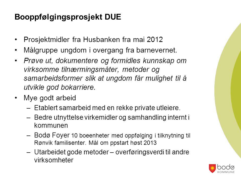 •Prosjektmidler fra Husbanken fra mai 2012 •Målgruppe ungdom i overgang fra barnevernet.