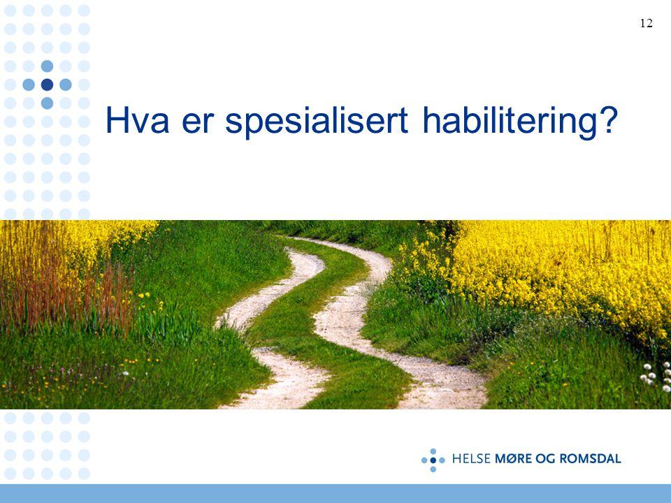 12 Hva er spesialisert habilitering?