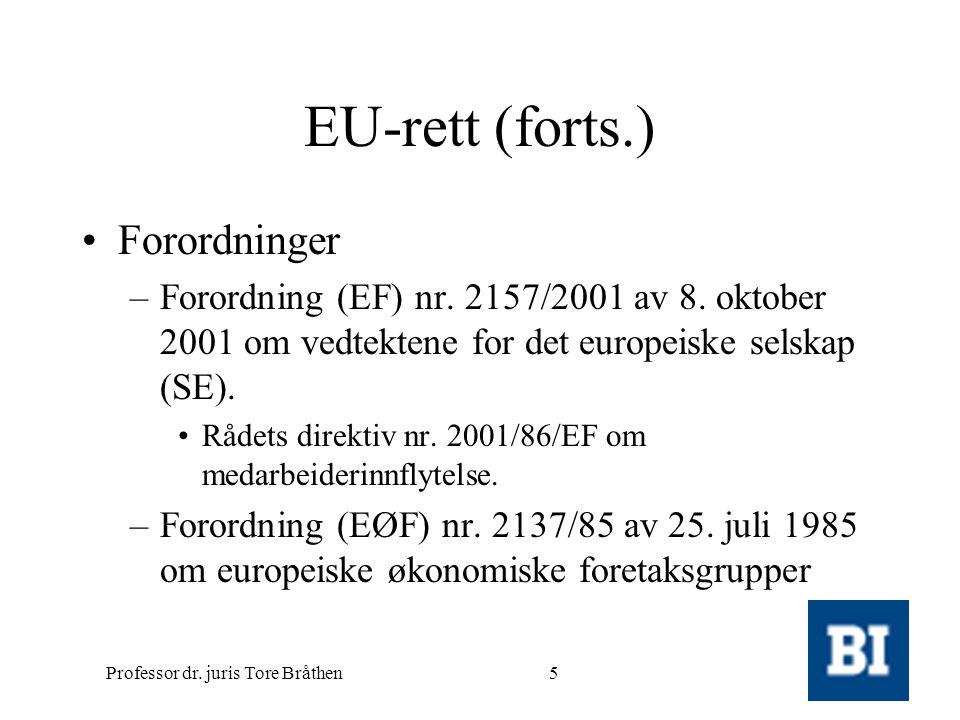Professor dr.juris Tore Bråthen26 Status pr.