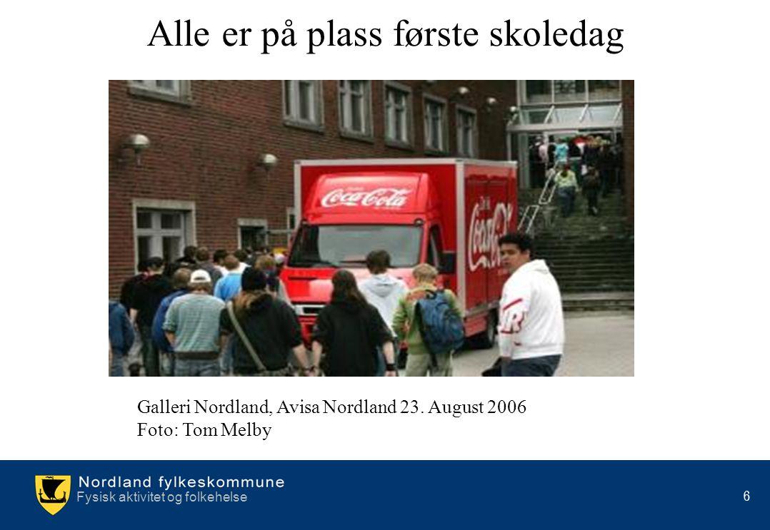 6 Alle er på plass første skoledag Galleri Nordland, Avisa Nordland 23. August 2006 Foto: Tom Melby
