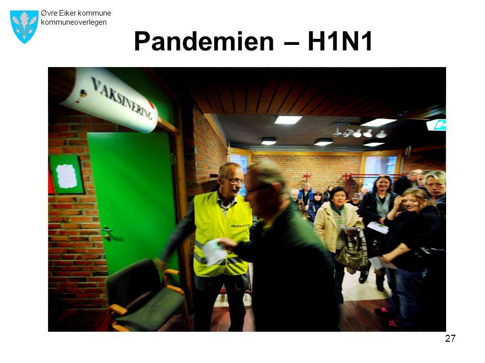Øvre Eiker kommune kommuneoverlegen 27 Pandemien – H1N1