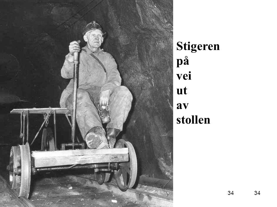 Øvre Eiker kommune kommuneoverlegen 22 oktober 2008Kurs for turnusleger3417/10-200734 Stigeren på vei ut av stollen