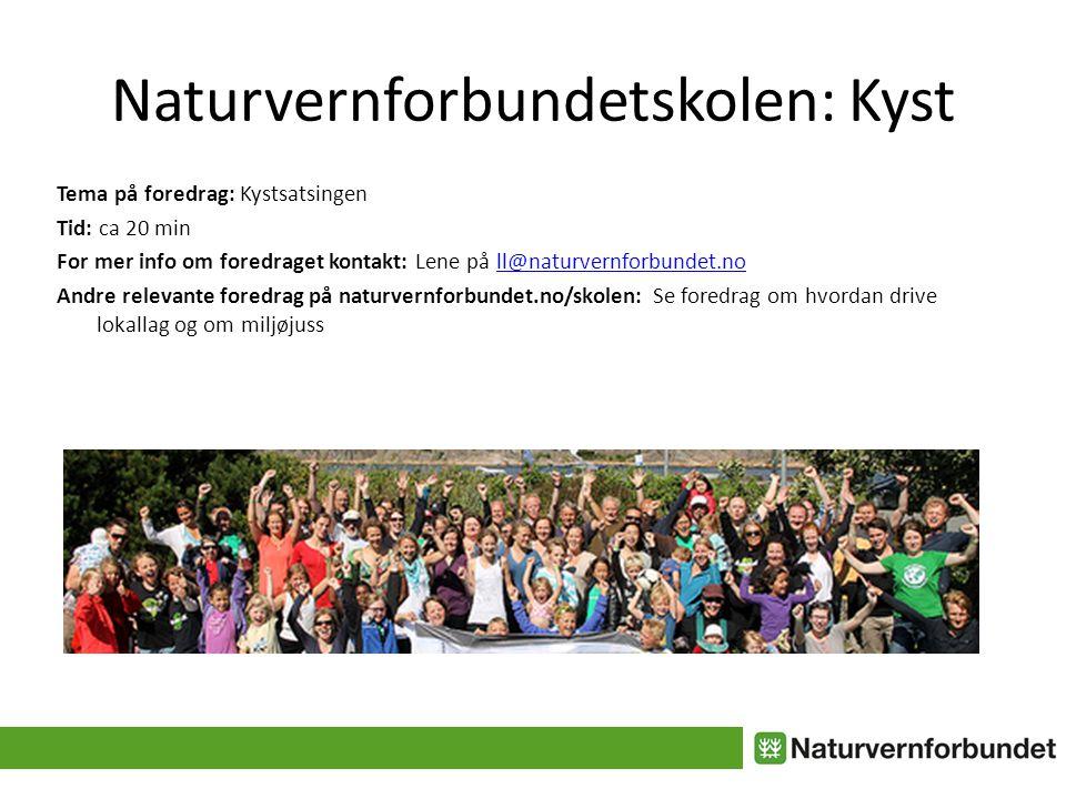Naturvernforbundet og kysten 2012-13