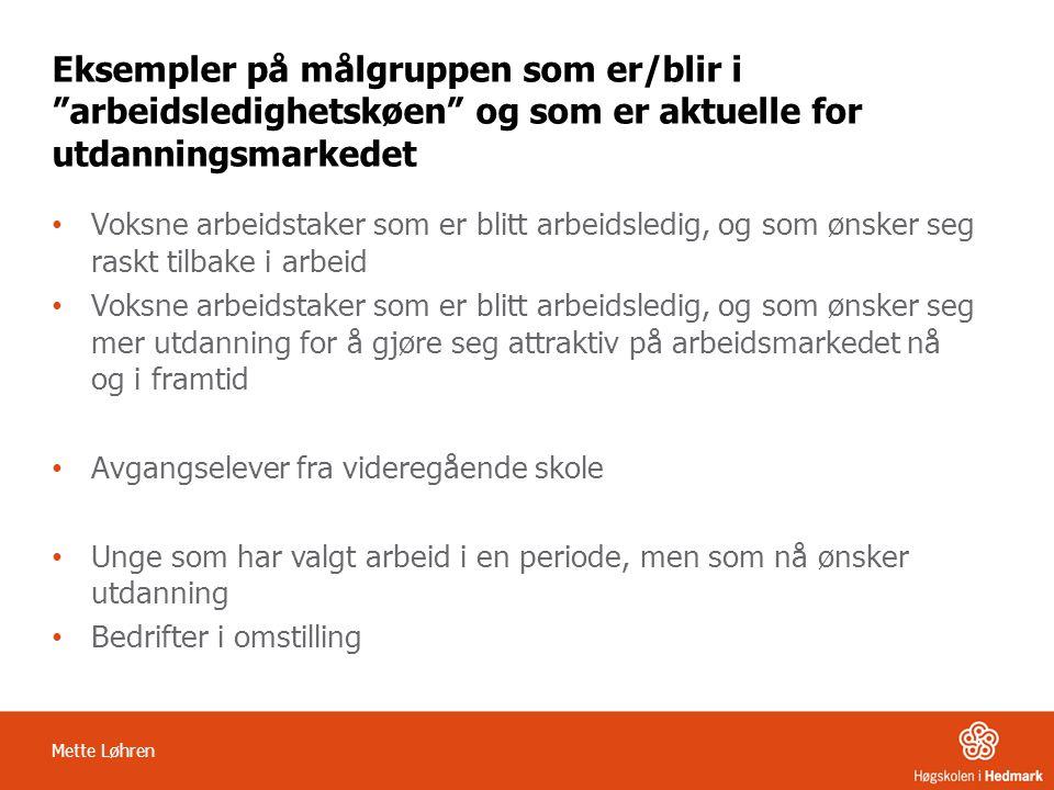 Utdanningstrappa Arbeid Arbeid Arbeid Høgskoleutdanning ÅS/BA/MA Studiepoengsgivende utdanningsprogram Startpakker – bransjespesifikke- HH AMO kurs Jobbsøkingskurs