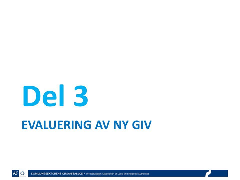 EVALUERING AV NY GIV Del 3