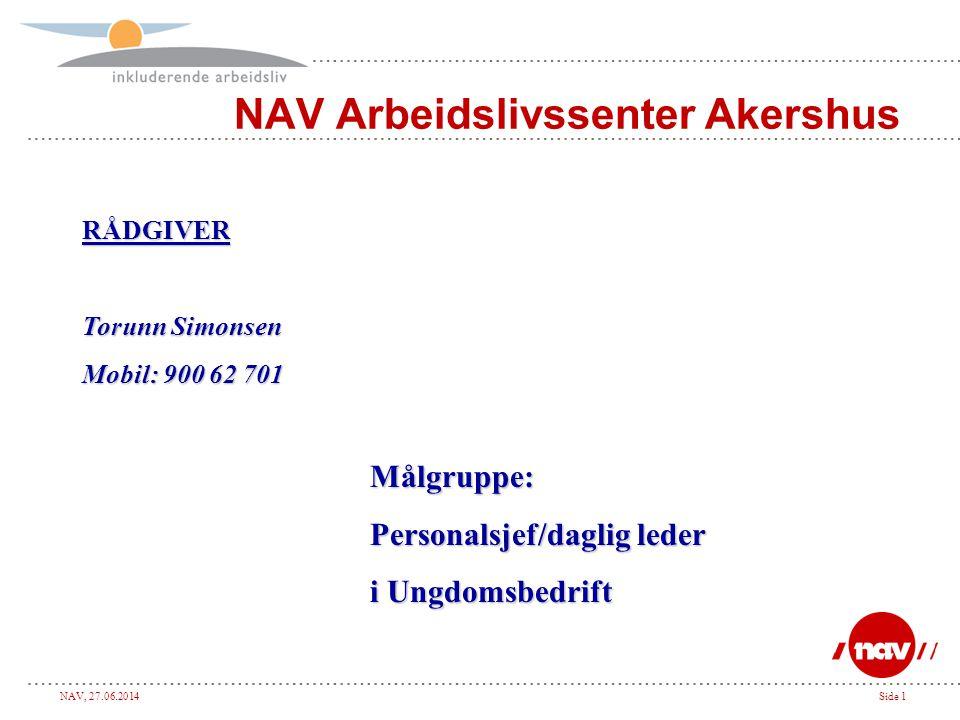 NAV, 27.06.2014Side 22 Risikomomenter.
