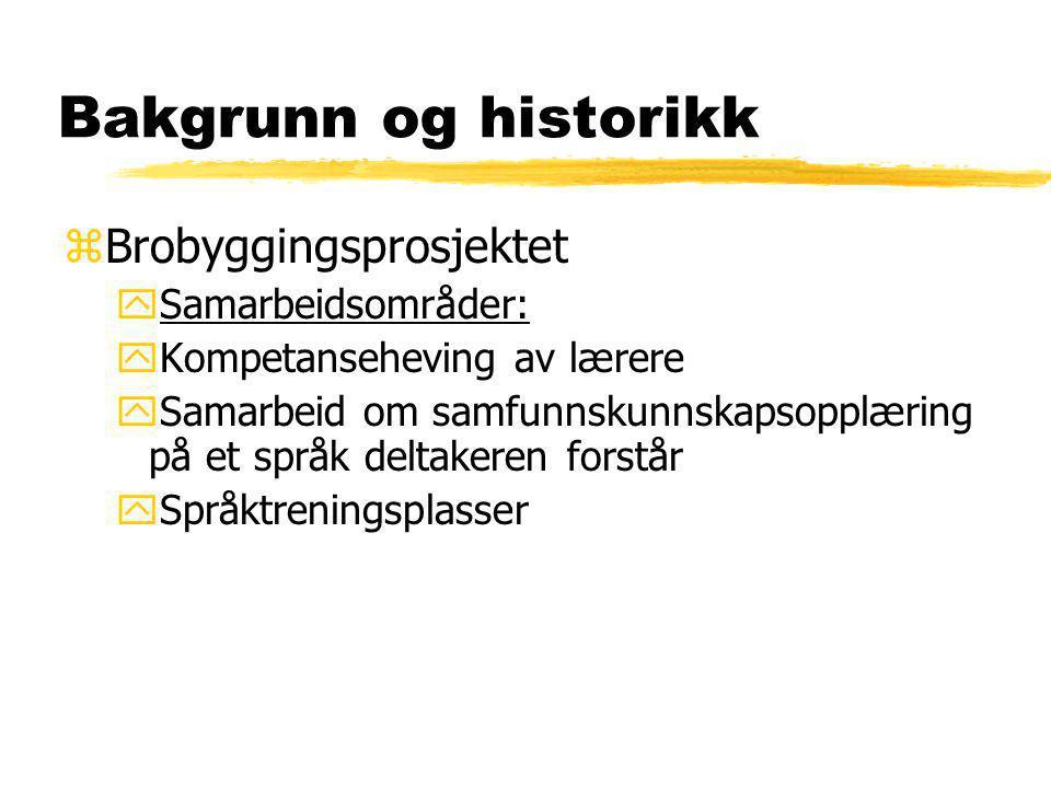 Bakgrunn og historikk yGrunnskoleopplæring for voksne yKveldskurs ySpor 1 deltakere med liten skolebakgrunn yIKT program yMottaksbase