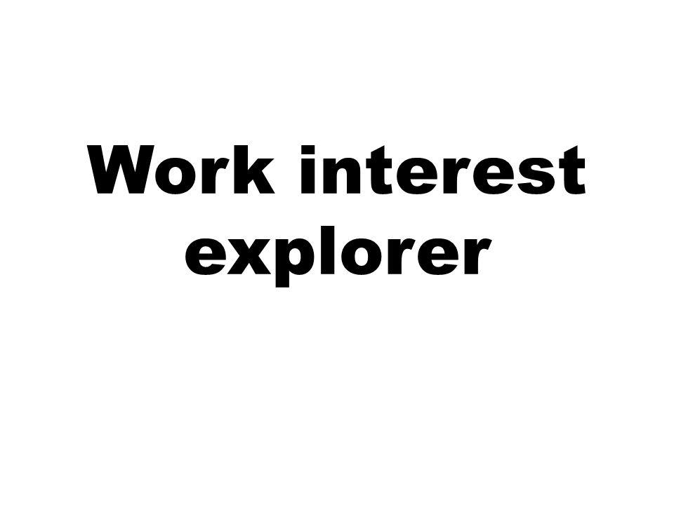 Work interest explorer