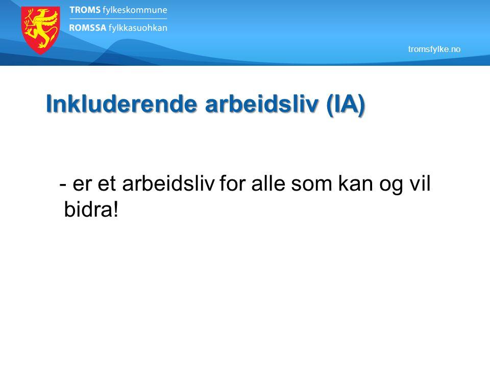 Delmål 2: Personer med redusert funksjonsevne Mål 1: Troms fylkeskommune har fokus på tilrettelegging og oppfølging av egne arbeidstakere med redusert arbeidsevne via NAV tilskudd.