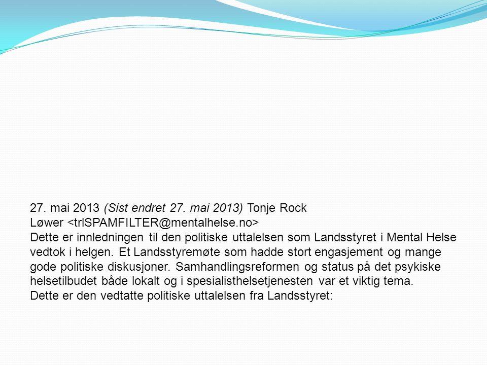27. mai 2013 (Sist endret 27.